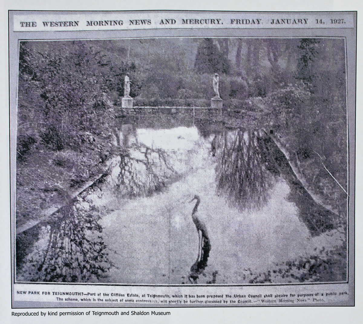 Cliffden Gardens taken for the Western Morning News 1927